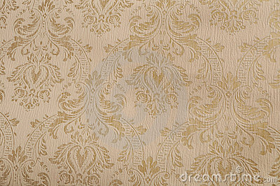 Gold textured damask paper