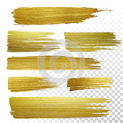 Free Gold Textured Paint Strokes Royalty Free Stock Photography - 64556447