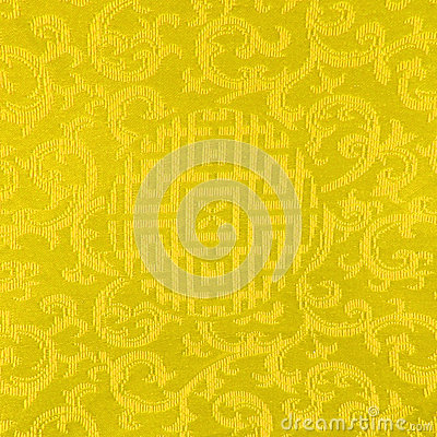 Gold Thai fabric patter