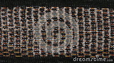 Gold thread loose weave fabric