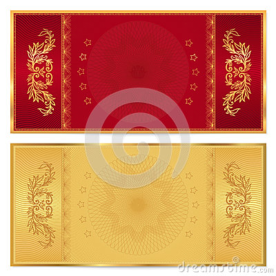 Gold Ticket Voucher Gift Certificate Coupon Stock Images Image 32790334