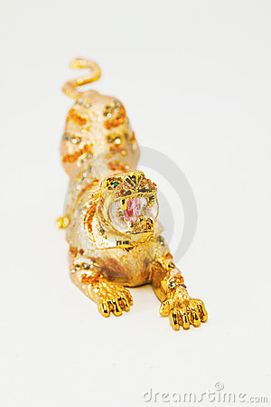 Gold tiger artwork