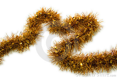 Gold Tinsel Christmas