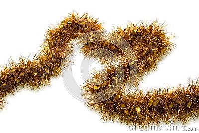 Gold Tinsel Christmas
