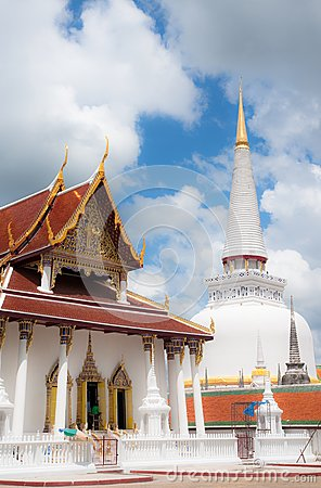 Gold top pagoda, South of Thailand.