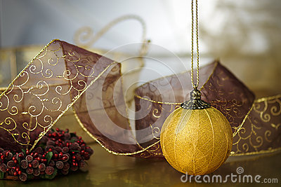 Gold Trimmed Holiday Background
