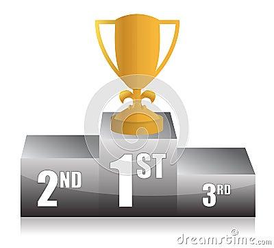 Gold trophy cup 1st place