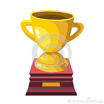 Gold trophy isolated illustration