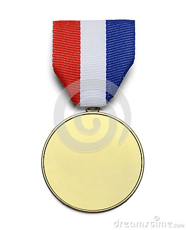 Free Gold USA Medal Royalty Free Stock Images - 43787609