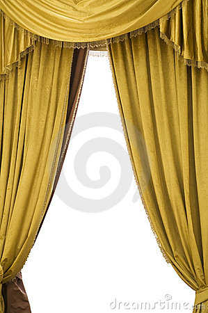 Gold Velvet Curtains Royalty Free Stock Photos Image