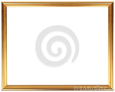 50eed6a9e8b0 Gold Vintage Frame Isolated On White Gold Frame Simple Design