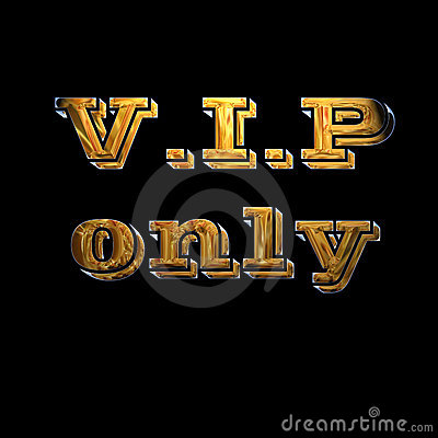 Gold VIP reservation sign