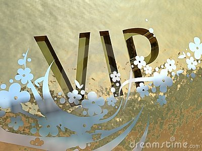 Gold VIP sign