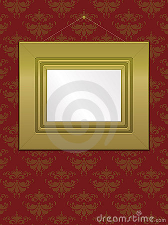 Gold Wall Frame EPS