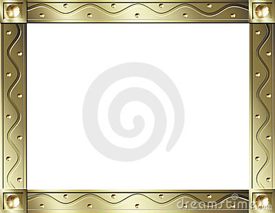 Gold wave frame