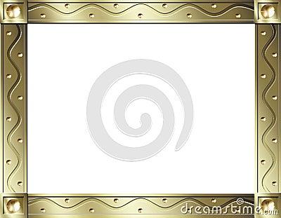 Gold wave frame
