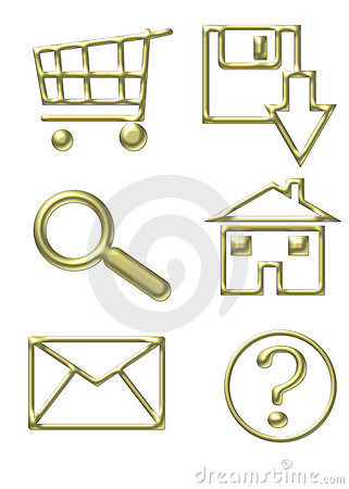 Gold Website Icons