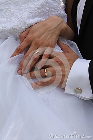 gold wedding rings stock photo image 33386170