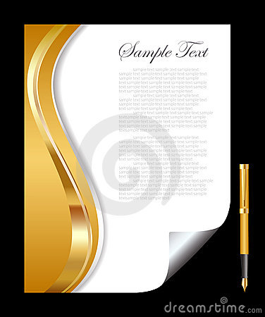 Gold and white abstract background