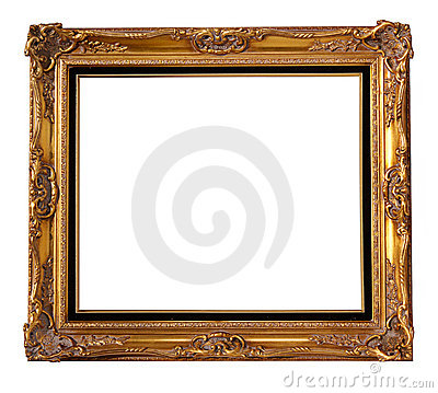 Free Gold Wood Frame Royalty Free Stock Photography - 13353957