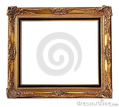 Gold wood frame