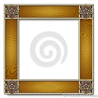 Gold & wood Frame