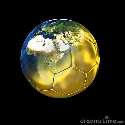 Free Gold World Of Soccer Stock Photo - 4986290