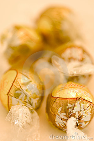 Gold wrap chocolate candy