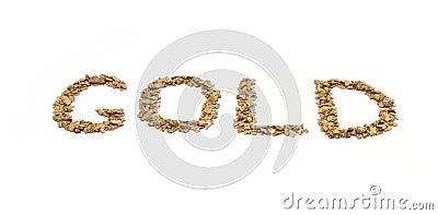 Gold written in Gold
