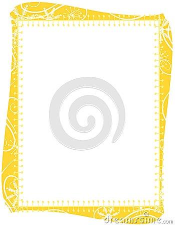 Gold Xmas Snowflakes Border