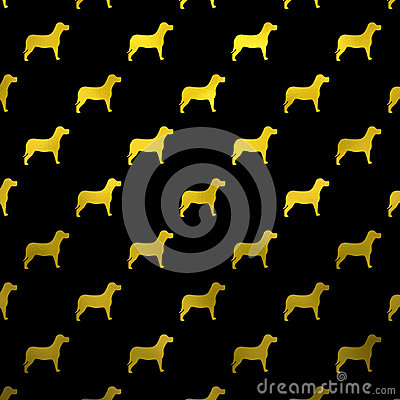 Free Gold Yellow Dogs Faux Foil Metallic Dog Polka Dots Black Background Royalty Free Stock Photo - 66963545