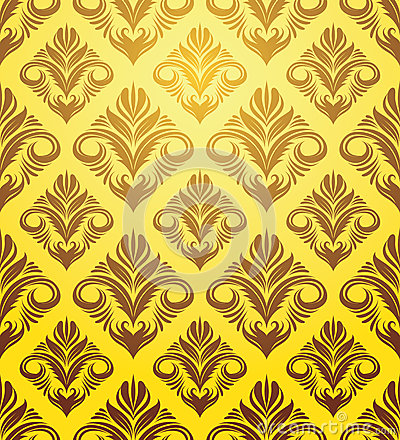Gold Yellow Ornament Pattern