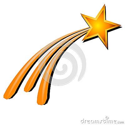Gold Yellow Shooting Star Royalty Free Stock Photos - Image: 2776038