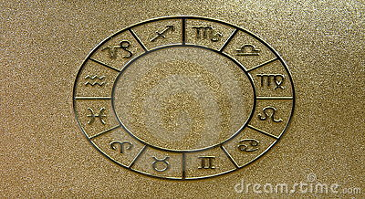 Gold zodiacal signs