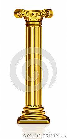 Golden 3d column