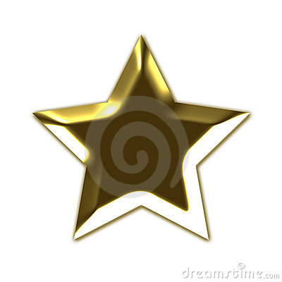 Golden 3D star