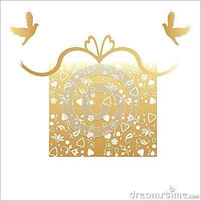 Golden 50th Wedding Anniversary Gift card
