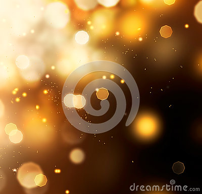 Golden Abstract Bokeh Background