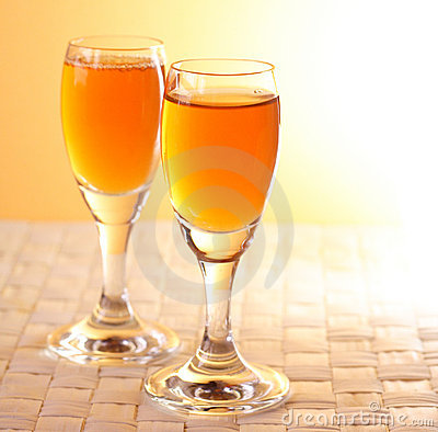 Golden alcohol glasses