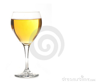 Golden Ale or Champagne Alcohol in Wine Glass