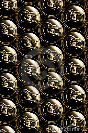 Golden aluminum drink cans pil