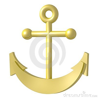 Free Golden Anchor Royalty Free Stock Images - 5828189
