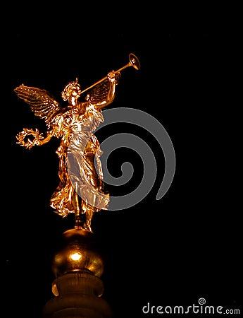 Golden angel in Dresden