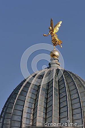 Golden angel in Dresden, Germany