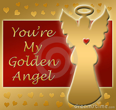 Golden angel heart thanks