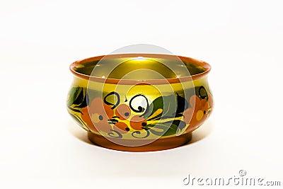 Golden antique bowl