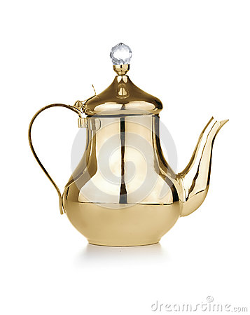 Free Golden Antique Teapot Royalty Free Stock Images - 41270719
