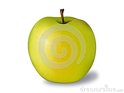 Golden Apple Vector Illustration