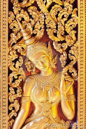 Free Golden Apsara. Stock Image - 13150001