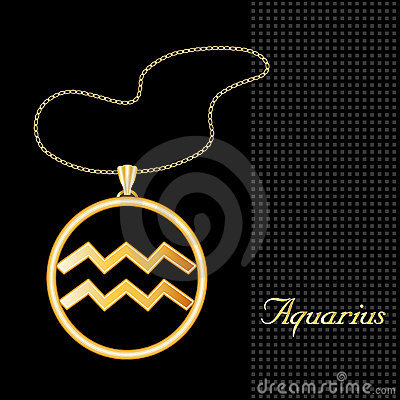 Golden Aquarius Pendant